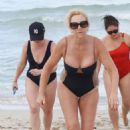 Melissa Joan Hart In A Swimsuit At A Beach In Miami