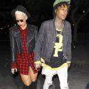 Amber Rose and Wiz Khalifa at the Jay Z Concert at the Staples Center in Los Angeles, California - December 9, 2013 - 454 x 693
