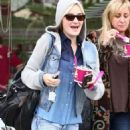 AJ Michalka stops by Menchie's at The Commons at Calabasas on Monday (February 6) in Calabasas, Calif
