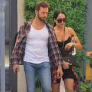 Nikki Bella and fiance Artem Chigvintsev – Visit a personal trainer in Beverly Hills - 454 x 675