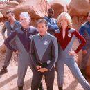 Sam Rockwell, Alan Rickman, Tim Allen, Daryl Mitchell, Sigourney Weaver and Tony Shalhoub in Dreamworks' Galaxy Quest - 12/99