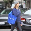 Troian Bellisario in Tights – Shopping in LA - 454 x 681