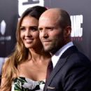 Jessica Alba & Jason Statham : Mechanic: Resurrection  Premiere (August 22, 2016) - 454 x 332