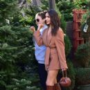 Olivia Culpo – Shops for a Christmas Tree in Los Angeles