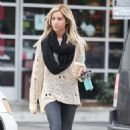 Ashley Tisdale: at Starbucks and grub at Mo's Restaurant in Los Angeles