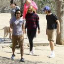 Shia LaBeouf and his new wife, Mia Goth, spend the day at the dog park in Studio City, California on October 15, 2016 - 454 x 464