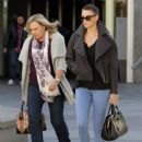 Charlize Theron takes her mom Gerda Theron to the movies at the Arclight Cinemas in Hollywood, California on December 15, 2012