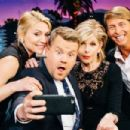 Christine Baranski, Claire Danes, Jack McBrayer on 'The Late Late Show with James Corden' in Los Angeles - 454 x 303