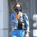 Jessica Alba – In denim jacket out in Los Angeles - 454 x 556