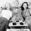 Marilyn Monroe with Clifton Webb and Laurette Luez - 454 x 256