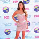 Lea Michele arrives at the 2012 Teen Choice Awards at Gibson Amphitheatre on July 22, 2012 in Universal City, California