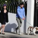 Shia LaBeouf And Carey Mulligan Out Walking Their Dog