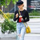 Lucy Hale in Ripped Jeans at Coffee Bean in Studio City - 454 x 681