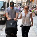Hilary Duff out in Manhattan with Mike Comrie and baby Luca (July 12)