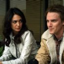 Nazanin Boniadi and Riley Smith