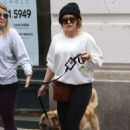 Hilary Duff in Tights With Her Dog out in New York - 454 x 681