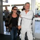 Eddie Van Halen & Jane Liszewski seen at LAX