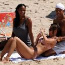 Hip-hop mogul introduced his new girlfriend on the beach - see pictures