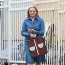Elisabeth Moss – Filming 'The Kitchen' in New York - 454 x 677