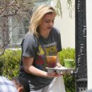 Chloe Moretz in Shorts and T-shirt out in Los Angeles