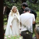 Jennifer Morrison On The Set Of Once Upon A Time In Burnabys Central Park