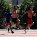 Cristiano Ronaldo shows there is no rest for the wicked as he trains in Ibiza with friends ahead of Portugal's Euro 2016 campaign