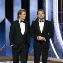 Brad Pitt and Leonardo Di Caprio At The 77th Golden Globe Awards (2020)
