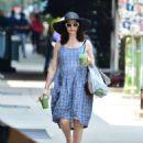 Rachel Weisz in Blue Dress – Out in New York - 454 x 555