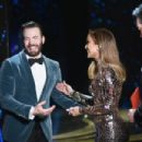 Jennifer Lopez and Chris Evans At The 91st Annual Academy Awards - Show - 454 x 302