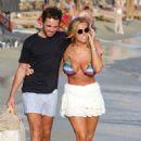Chloe Meadows in Bikini at the beach in Mykonos - 454 x 681