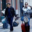 margarita levieva with her boyfriend sebastian stan in New York City's Tribeca district - 454 x 491