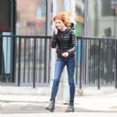 Katherine McNamara on King Street West in Toronto - 454 x 466