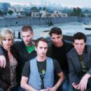 L to R: Melissa Searing as Andie, Jay Brannan as Jake, Brent Gorski as Trevor, Eli Kranski as Ephram and Christopher Wyllie as Darrell in Regent Releasing 'Holding Trevor.' - 454 x 303
