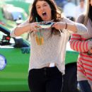 Shenae Grimes on set of 90210 in LA, January 20, 2011