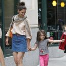 Katie Holmes: enjoyed an afternoon in New York City