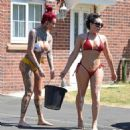 Jemma Lucy and Laura Alicia Summers in Bikini – Car Washing in Manchester - 454 x 479