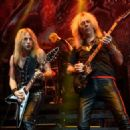 Richie Faulkner and Glenn Tipton of Judas Priest perform at The Pearl Concert Theater at the Palms Casino Resort on November 14, 2014 in Las Vegas, Nevada - 454 x 324
