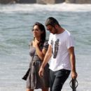 Rosario Dawson And Mathieu Schreyer In Santa Monica - 396 x 594
