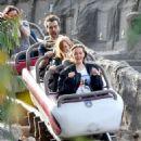 Jessica Chastain and her husband Gian Luca Passi de Preposulo at Disneyland - 454 x 490