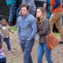 Rose Byrne and Mark Wahlberg on the set of 'Instant Family' in Atlanta - 454 x 681