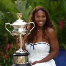 Serena Williams Wins Australian Open - Posing With Trophy