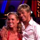 Derek Hough and Jennie Garth