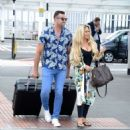 Bianca Gascoigne and boyfriend CJ Meeks Arrives at the airport in London - 454 x 514