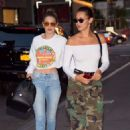 Gigi and Bella Hadid – Out for dinner in NYC - 454 x 681