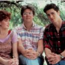 Michael Schoeffling, Molly Ringwald and the director John Hughes in Sixteen Candles (1984)