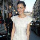Phoebe Tonkin – Leaving the Bristol Hotel in Paris - 454 x 665