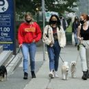 Camila Mendes with Lili Reinhart and Madelaine Petsch – spotted on an dog walk in Vancouver