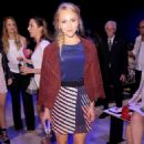 Annasophia Robb Rebecca Minkoff Spring 2015 Fashion Show In Nyc