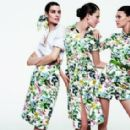 Manon Leloup, Bette Franke and Diana Moldovan for Carolina Herrera Spring/Summer 2014 Ad Campaign