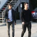 Joe & Kevin Jonas meet some friends for lunch in Los Angeles, California on January 9, 2015 - 454 x 546